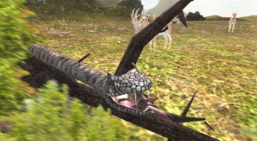 ヘビの攻撃