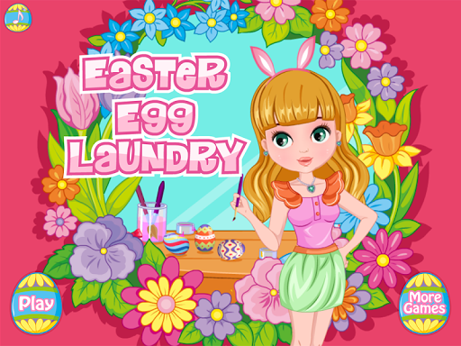 Baby Easter Egg Laundry Time