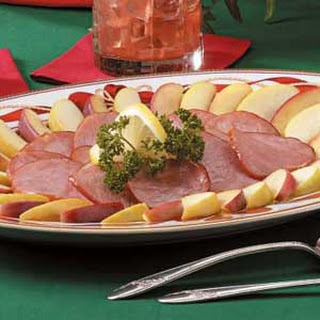 Canadian Bacon With Apples.