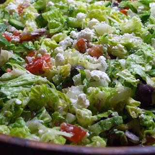 Chopped Vegetable Salad w/ Feta & Olives