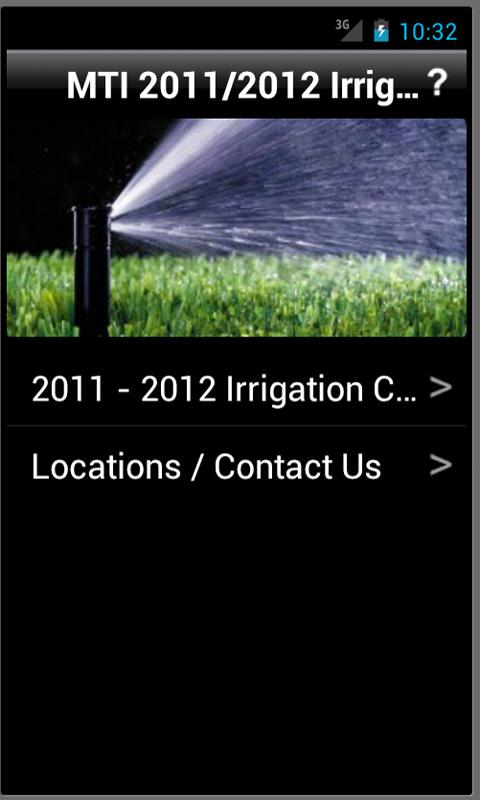 MTI Irrigation- screenshot
