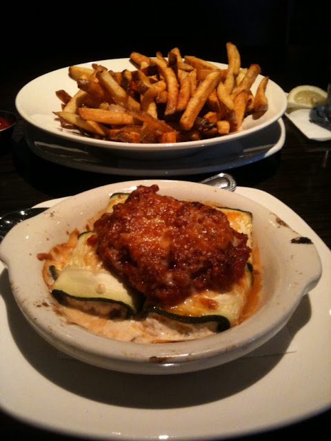 Zucchini and French fries