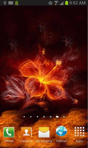 Flaming Flower Live Wallpaper