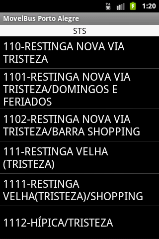 MovelBus Porto Alegre- screenshot