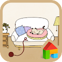 Sleeping cat Dodol Theme icon