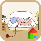 Sleeping cat Dodol Theme icon