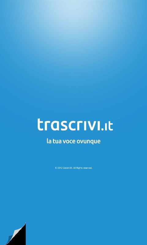 Trascrivi- screenshot