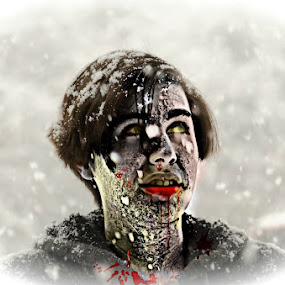Snow Zombie by RomanDA Photography - Digital Art People (  )