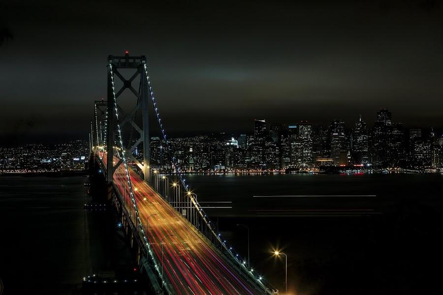 Bay Bridge by Shawn Yang - Landscapes Travel