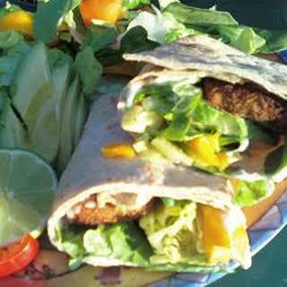 Fish Tacos with Honey-Cumin Cilantro Slaw and Chipotle Mayo.