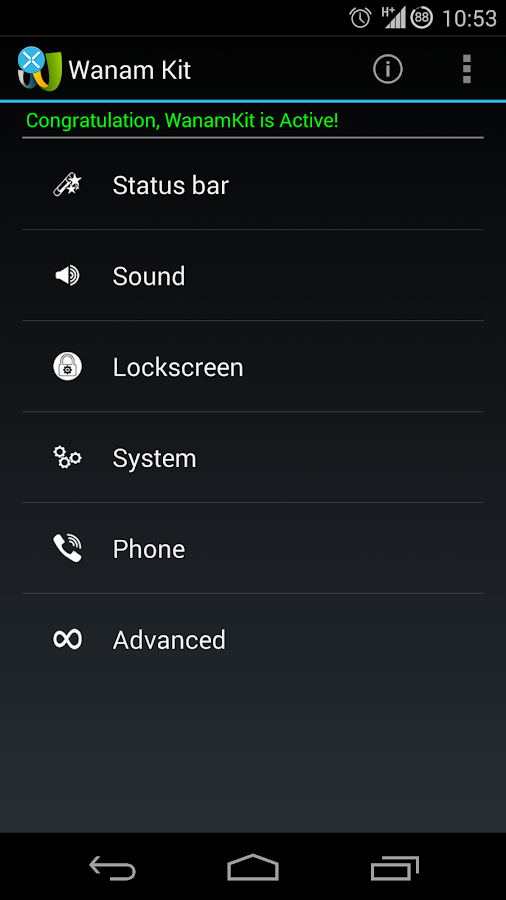 Wanam Kit (Xposed) - screenshot