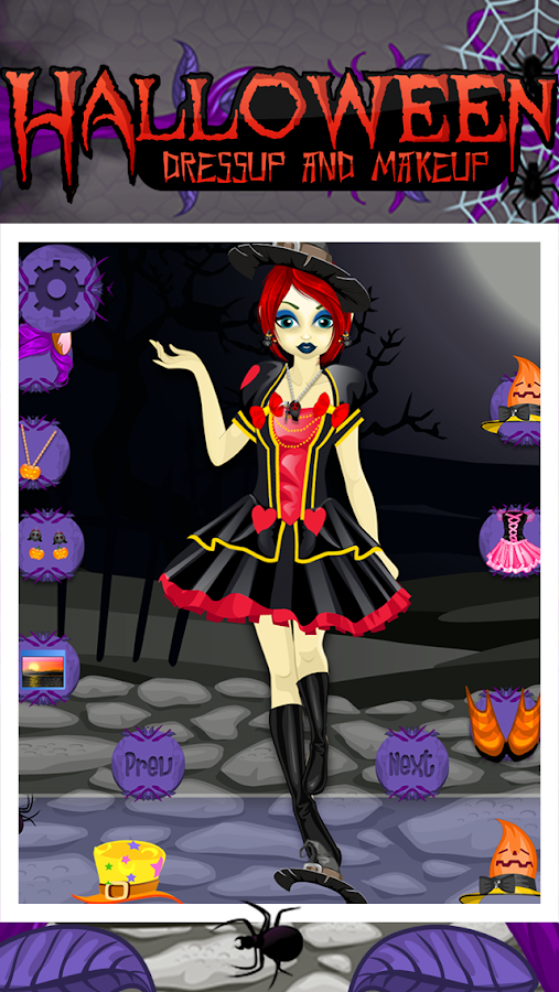 Halloween Makeup and Dressup- screenshot