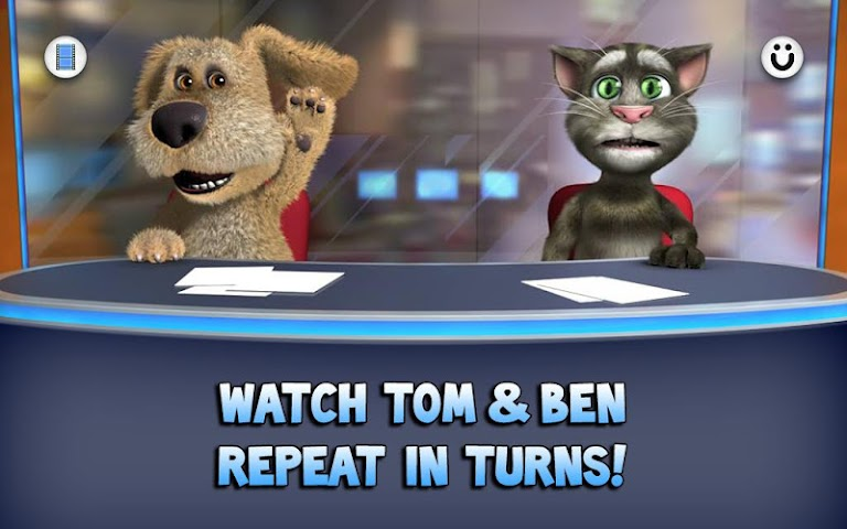 android Talking Tom & Ben News Screenshot 1