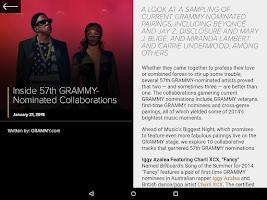 Screenshot of GRAMMYs