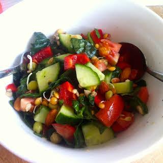 Tomato & Cucumber Salad.
