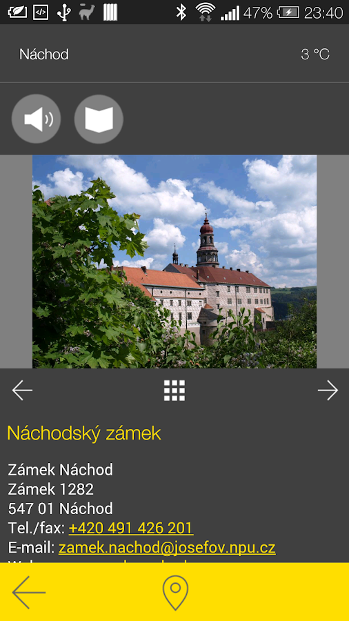 Náchod - audio tour- screenshot