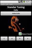 Screenshot of Tuner and metronome