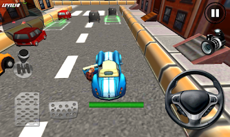 Screenshot of Crazy Cartoon Parking King 3D