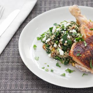 Pan-Seared Chicken with Dried Cherry & Pistachio Quinoa Recipe