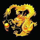 3D golden dragon