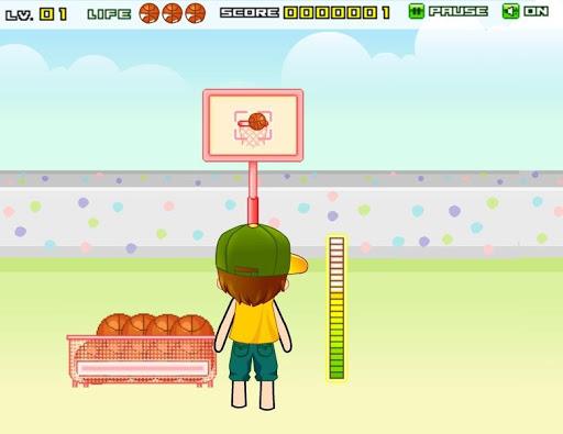 芝生バスケットボール