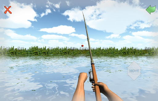 Fishing 3D Simulator. River