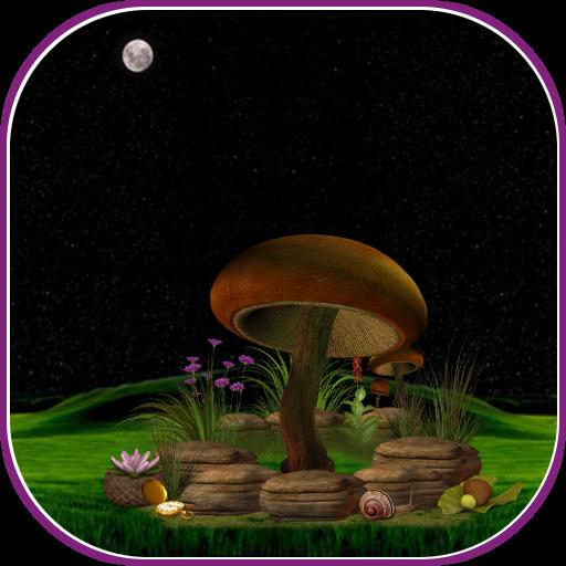 3D Night Mushroom Live Wall LOGO-APP點子