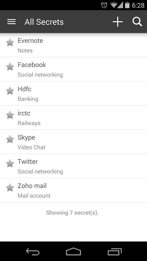 Zoho Vault - Password Manager - screenshot
