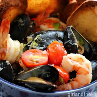 Tuscan Mussels and Shrimp.