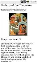 Screenshot of English Orthodox Troparions