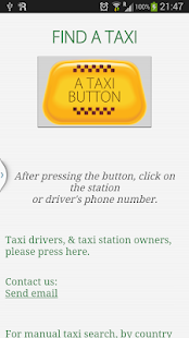 taxibutton.info A taxi finder- screenshot thumbnail