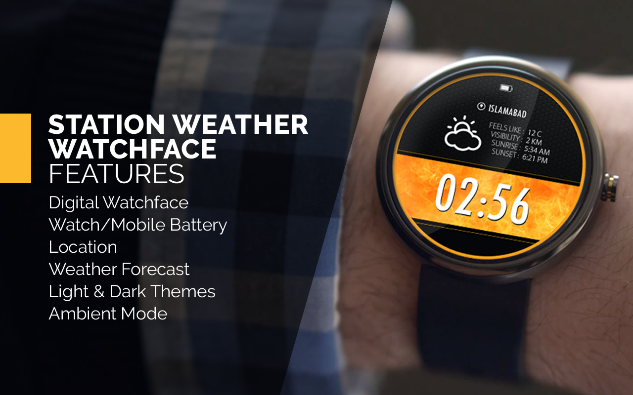 Station Weather Watch Face- screenshot