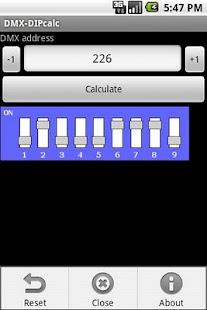 DMX-DIP calculator- screenshot thumbnail