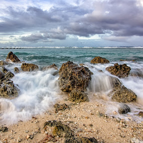 Flowing Over by Jun Robato - Landscapes Waterscapes ( asan, guam, seascapes, landscapes, waterscapes )