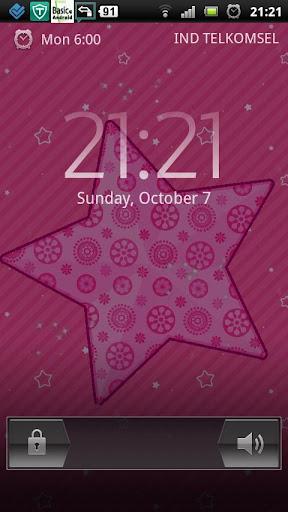 ピンクの愛の輝きのスター LWP
