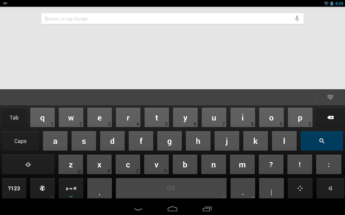 Google Hindi Input - screenshot