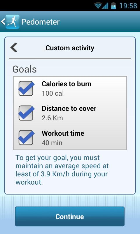 Smart Pedometer - screenshot