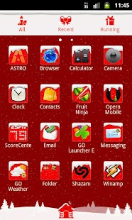GO Launcher EX Theme Christmas - screenshot thumbnail