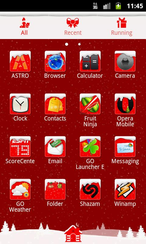 GO Launcher EX Theme Christmas - screenshot