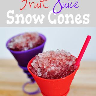 Dye-Free Fruit Juice Snow Cones.