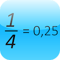 Fraction to Decimal icon