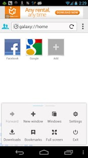 Galaxy Flash Browser- screenshot thumbnail