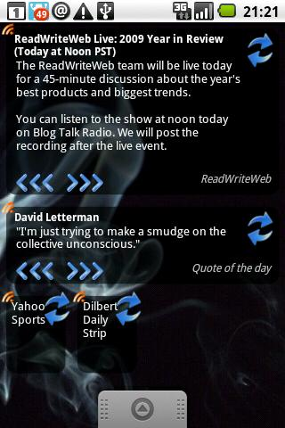Any RSS reader + widget - screenshot