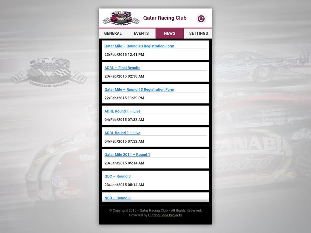 QRC Racing Alert- screenshot