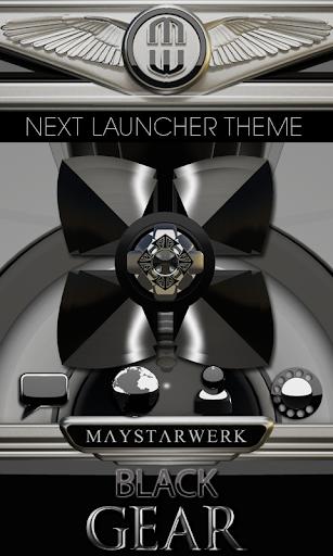 Next Launcher Theme Black Gear