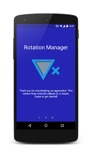Rotation Manager - Control