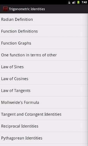 Trigonometry Formulas Pro