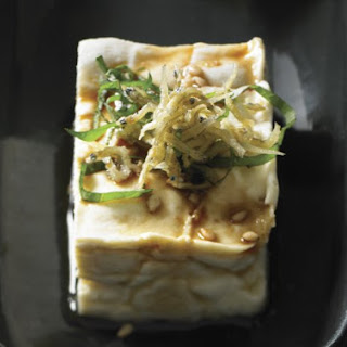 Chilled Tofu with Crunchy Baby Sardines.