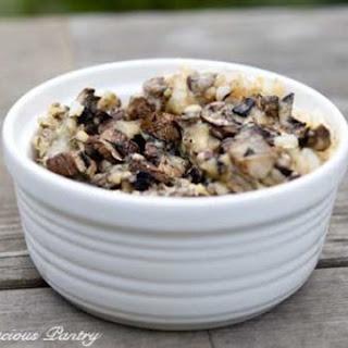 Clean Eating Mushroom & Brown Rice Casserole.