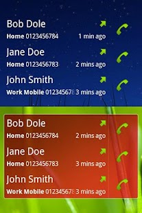 Call + SMS Log Widget- screenshot thumbnail